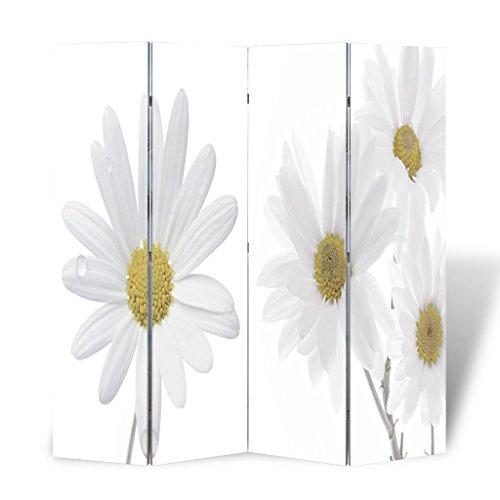 Festnight Biombo de Impresion Floral Ideal para la Decoración 160 x 1