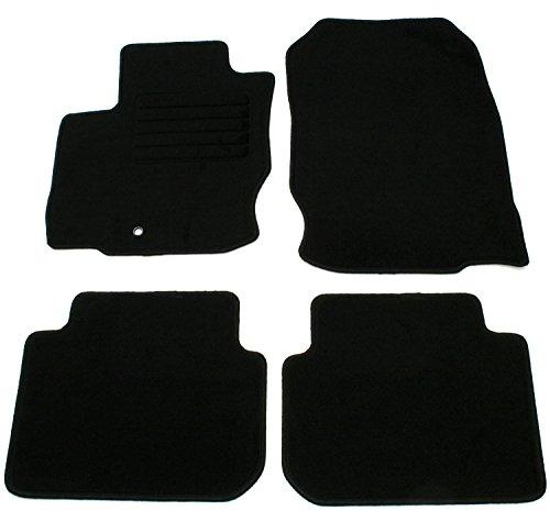 ad Tuning GmbH hg11358Velours vestibilità Set di tappetini Nero Auto Tappeti Tappeti Tappeto Floor Mats