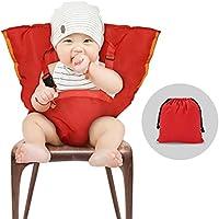 YOHOOLYO Chaise Haute Portable Bébé Chaise Nomade pour Sécurité Chaise et Alimentation bébé Facilement Dehors Rose