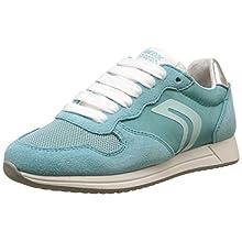 Geox Girls' J Jensea E Low-Top Sneakers, Turquoise (Lake), 4 UK Child