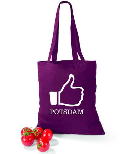 Artdiktat Baumwolltasche I like Potsdam Burgundy