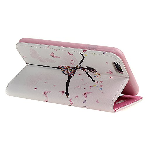 Coque Housse Etui pour iPhone 5C, iPhone 5C Cuir Wallet Coque Cases Covers, Ukayfe Protecteur Dur Etui Housse de Protection Étui Coque Flip PU Cuir portefeuille Etui Housse Coque Coquille avec Stand e Danseuse