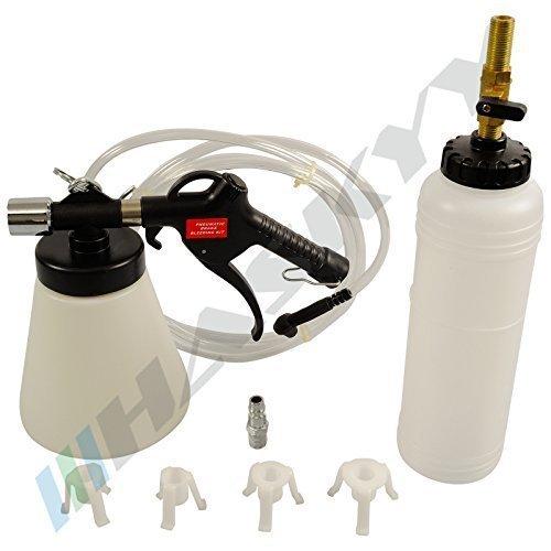 Preisvergleich Produktbild Druckluft Bremsentlüfter mit Nachfüllflasche+ Adapter, Bremsenentlüftungsgerät pneumatisch CDBEG-15