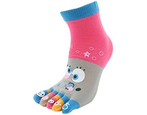 BONAMART 1 Paar Zehensocken Damen Lustige Bunte Socken, Baumwolle Zehen Zehensocken Toe Socks Frauen 34-40 Starfish