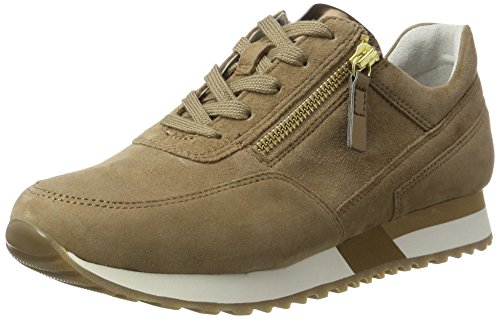 Gabor Shoes Comfort, Scarpe da Ginnastica Basse Donna Marrone (walnut/altmessing 43)