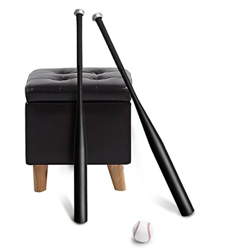 Bate de Beisbol, Bate de béisbol de aluminio, Béisbol de 32 pulgadas con Bola y Bolsa(Negro)