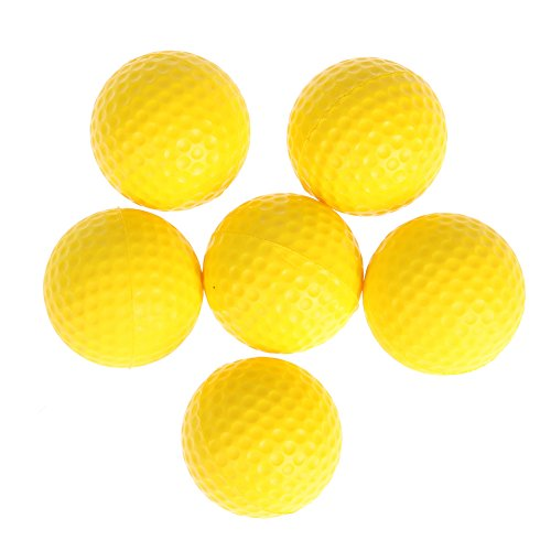 Trendyest Golf PU Balle Intérieur Débutant d'entraînement Softball (Jaune) (6)