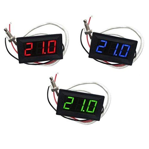 MagiDeal 3pcs LED Autothermometer Innen/Außen DC 12V Auto KFZ Thermometer Digital Thermometer Panel-Meter -30 bis +800 ℃