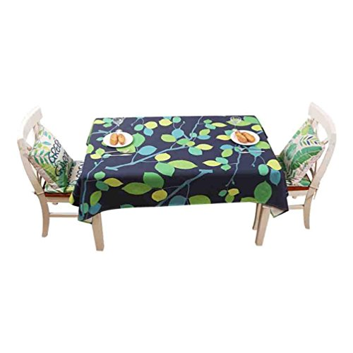 Nappes coton lin linge vert table basse table mat rectangle tissu table à manger tapis , 006 , 140*140cm