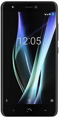 "BQ Aquaris X - Smartphone de 5.2"" (WiFi, 3 GB de RAM, memoria interna de 32 GB, Bluetooth 4.2, cámara de 16 MP, dual nano-SIM, Android 7.1.1 Nougat) mineral black - reacondicionado oficial"