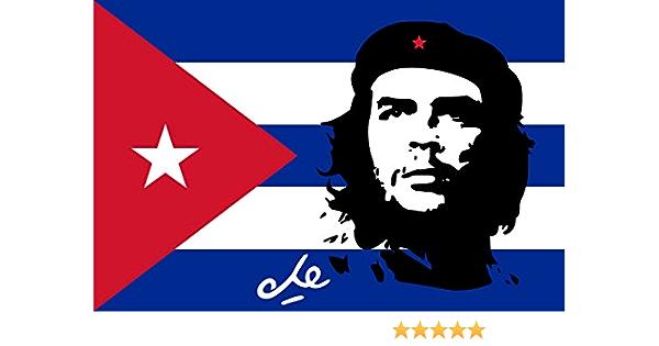 Michael Rene Pflüger Barmstedt Autoaufkleber Fahne Von Kuba Mit Che Guevara Sticker Auto Motorrad Aufkleber Auto