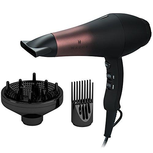 Wazor A005Sèche-cheveux de salon professionnel AC 1800W Infrarouge lointain ionique avec 3 réglagesPrise UE Câble de 2,65m