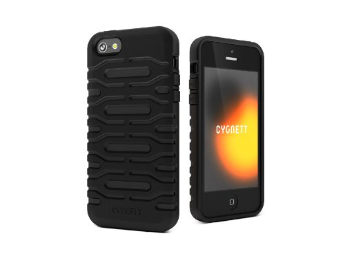 Cygnett CYGCY0871CPBUL Bulldozer Silicone Phantom Soft Case für Apple iPhone 5 schwarz