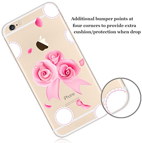 iPhone 5 Case , Bonice iPhone 5S Cover,Bonice Colorato Ultra Thin Morbido TPU Silicone Rubber Clear Trasparente Back Creativo Case –pulcino 02 model 4