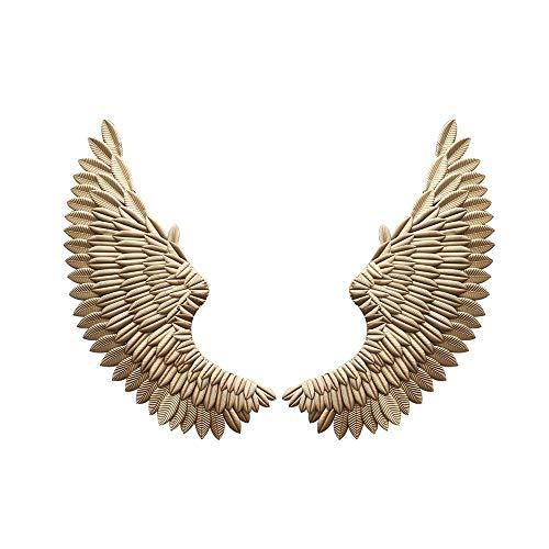 Gold Engelsflügel Kostüm - YIYIBY Engelsflügel Wanddeko wandtattoo wohnzimmer Engel