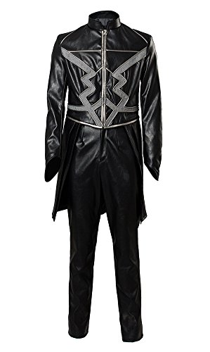 lt Blackagar Boltagon Outfit Cosplay Kostüm Maßanfertigung (Black Bolt Kostüm)