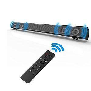 Soundbar, Fozela TV Sound Bar Wired and Wireless Bluetooth Speaker ( 40 Watt Speaker,31.5-Inch,Dual Connection Methods, Remote Control, Wall Mountable)