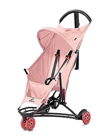 Quinny Yezz Buggy (federleicht (nur 5 kg), zusammengeklappt einfach über die Schulter zu tragen, komfortable Sitzfläche aus Fallschirmmaterial, Staufach am Rücken) rosa