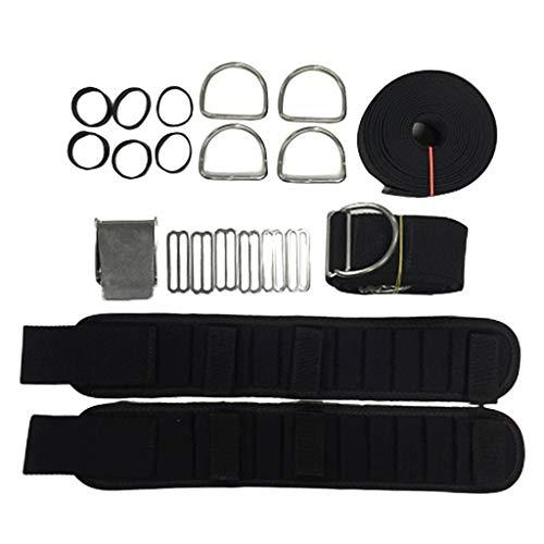 SaniMomo Tauchen Tank Backplate Harness BCD Träger Carry Schultergurt Pad D Ring Gürtel