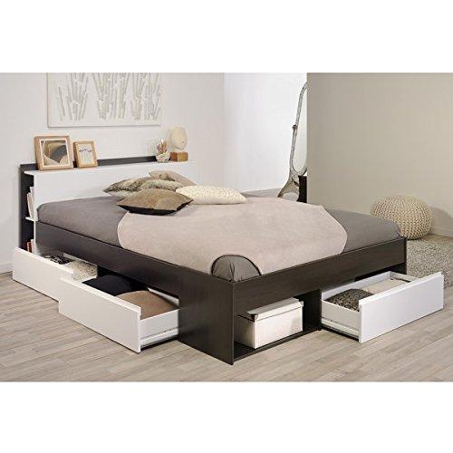 Funktionsbett 140*200 kaffee braun / weiß inkl 3 Roll-Bettkästen Kinderbett Jugendbett Jugendliege Bettliege Bett Jugendzimmer Kinderzimmer