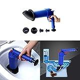 YLXD Abflußreiniger Toiletten-Luftstößel - leistungsstarker Abfluss-Kolben,Pressluft-Rohrreiniger mit handlichem Pistolengriff, Rohrreinigungspistole für Bad und Küche