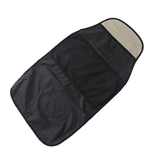 Rückenlehnenschutz Auto mit 2 Lagergittern Tasche Autositz Schoner Wasserdicht