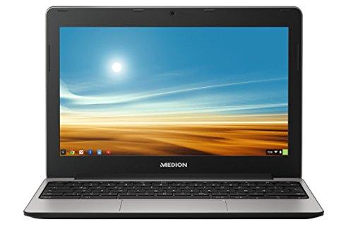 Medion AKOYA S2013 MD 60077 29,5 cm (11,6 Zoll mattes HD Display) Notebook (ARM Cortex A17, 2GB RAM, 16GB Flash-Speicher, Google Chrome) silber