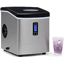Klarstein Machine à glacons 150W, réservoir 3,3L pour jusqu'à 13kg de glacons/jour (certifiée TÜV-GS, châssis en acier, silencieuse) - Noir