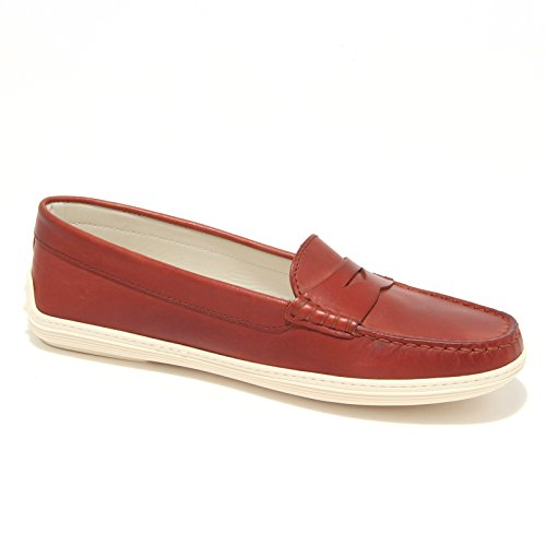 8063L mocassini donna TOD'S marlin scarpe shoes loafers women Rosso