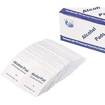 Almohadillas de preparación de alcohol estéril desechables antisépticos, 100 unidades, almohadillas para limpiar paños