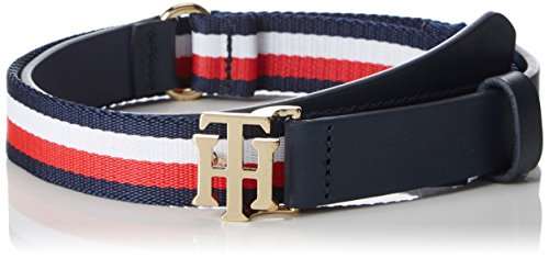 Tommy Hilfiger Damen Gürtel TH Buckle Belt Seasonal 2.5, Schwarz (Corporate 901), 75