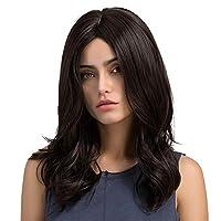 شعر مستعار صناعي طويل مجعد طبيعي مثالي للنساء 20 انش