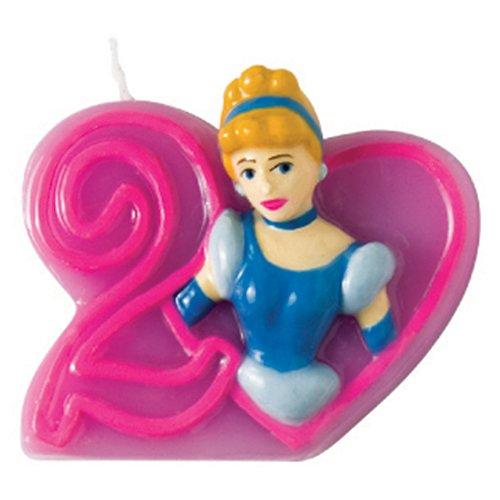 Candelina principesse numero 2 Aurora per torta