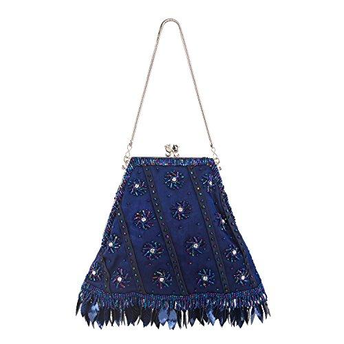 Farfalla - 90433, Pochette Donna Blu (blu scuro)