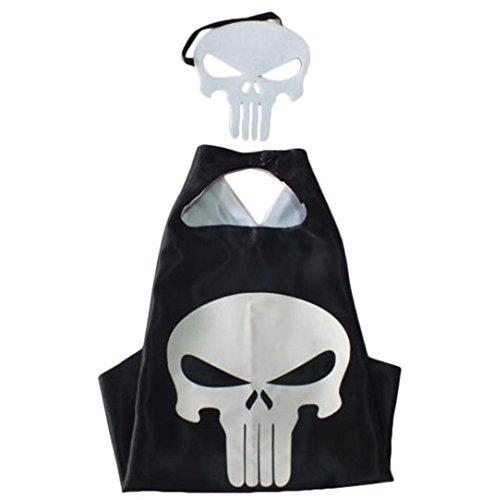 Kiddo Cuidado trajes de superhéroe, máscaras, capas, raso (Niños) (Punisher)