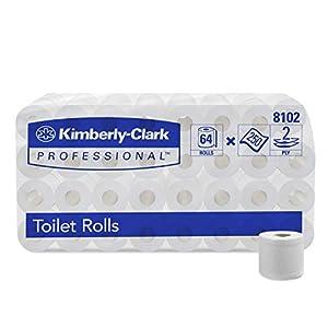 Kimberly-Clark Professional Toilettenpapier, 8 x 8 Kleinrollen x 250 Blätter, 1er Pack (1 x 64 Stück)