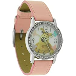 Boofle Ladies Stone Set Pink Strap Watch