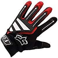 ZYPMM Los nuevos guantes de montar de otoño e invierno, guantes de la bicicleta, guantes llenos del dedo al aire libre guantes de bicicleta de montaña largo dedo ( Color : Rojo , tamaño : L )