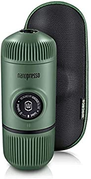 WACACO Nanopresso Portable Espresso Maker Bundled with Protective Case, Upgrade Version of Minipresso, Mini Tr