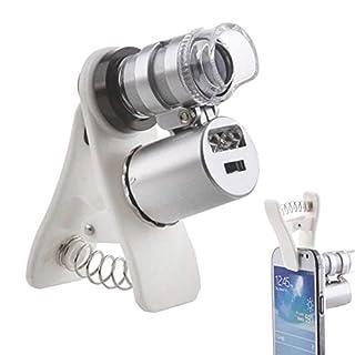 RDJM 60x mené tête lumière et aux rayons UV grossissement microscope pour iphone/ipad et autre téléphone portable