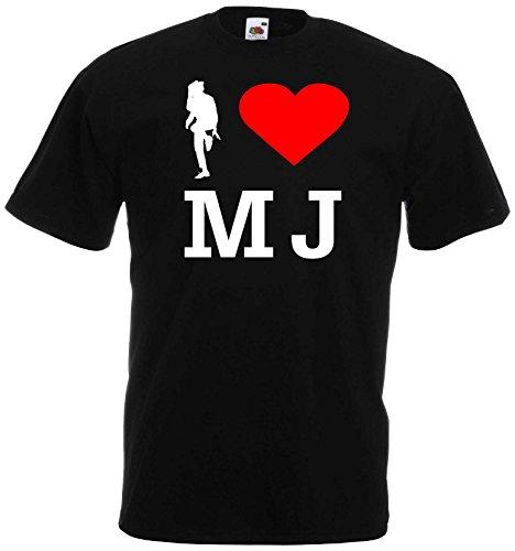 world-of-shirt Herren T-Shirt I Love Michael Jackson