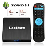 Android TV System TV Box Leelbox Smart Android TV Box with Voice Remote