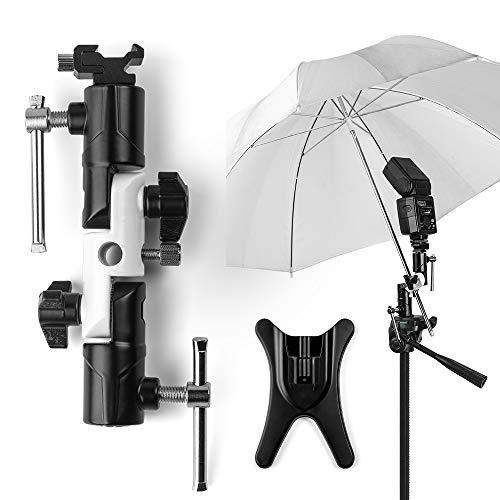 Fotover Blitzschuh Kamera Schirmhalterung Blitzhalter Blitz Halterung Speedlite Blitzneiger Halterung Stand Kamera Regenschirm Halterung...