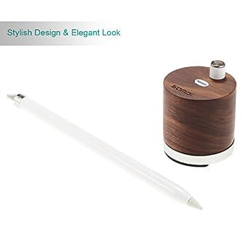 Samdi Holz Mini Ladegerät & Halterapple Pencil Charing Dock Stand Für Apple Ipad Pro Bleistift Ladegerät Dock Stehen (Schwarze Walnuss) 5