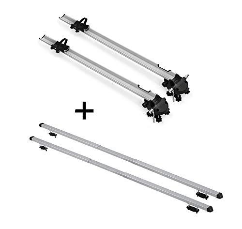 VDP 2X Fahrradträger Bike Pro + Dachträger Rapid kompatibel mit Hyundai ix35 (5Türer) 10-15