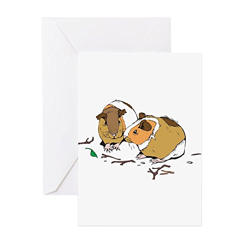 CafePress-Kleine süße Meerschweinchen-Grußkarte, Note Karte, Geburtstagskarte, innen blanko, matt -