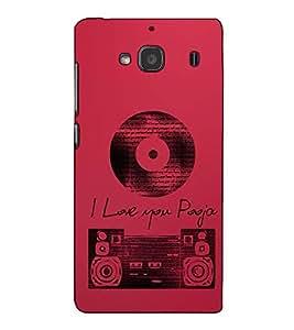 Fuson Designer Back Case Cover for Xiaomi Redmi 2 :: Xiaomi Redmi 2S :: Xiaomi Redmi 2 Prime (I Love You Theme)