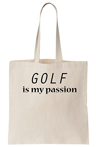 Golf Is My Passion Canvas Tote Bag (Golf-artwork)