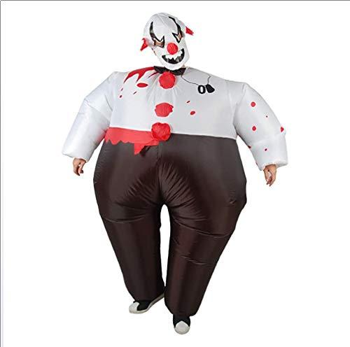 (OOFAYWFD Aufblasbare Kleidung Clown Aufblasbare Pu Polyester Tuch Party Stage Doll Modell Halloween Dekoration (150Cm-190Cm))