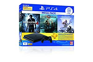 Sony PS4 1 TB Slim Console (Free Games: God of War/Uncharted 4/Horizon Zero Dawn)